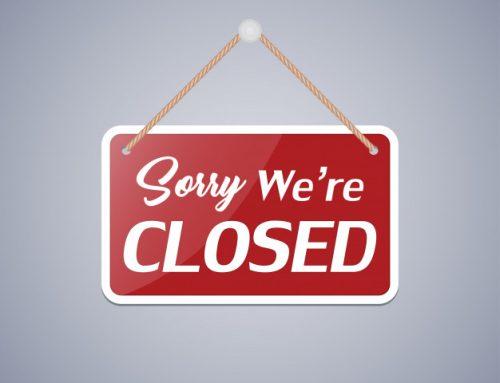 Helaas zijn we gesloten!